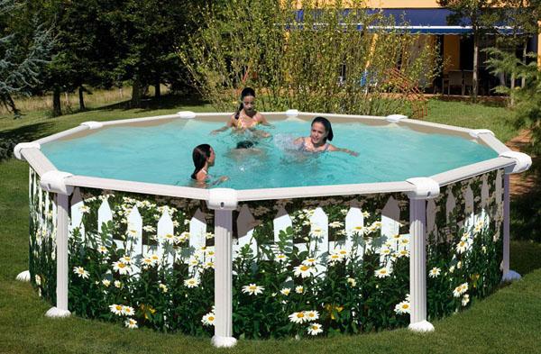 Liner para piscinas desmontables todo sobre liners for Decorar piscina elevada