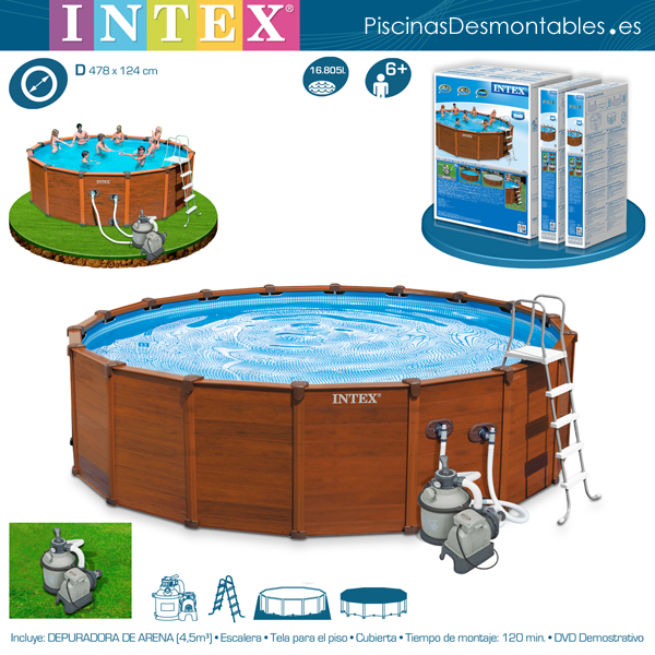 Piscinas intex diversi n y buen precio for Fotos de piscinas modernas en puerto rico