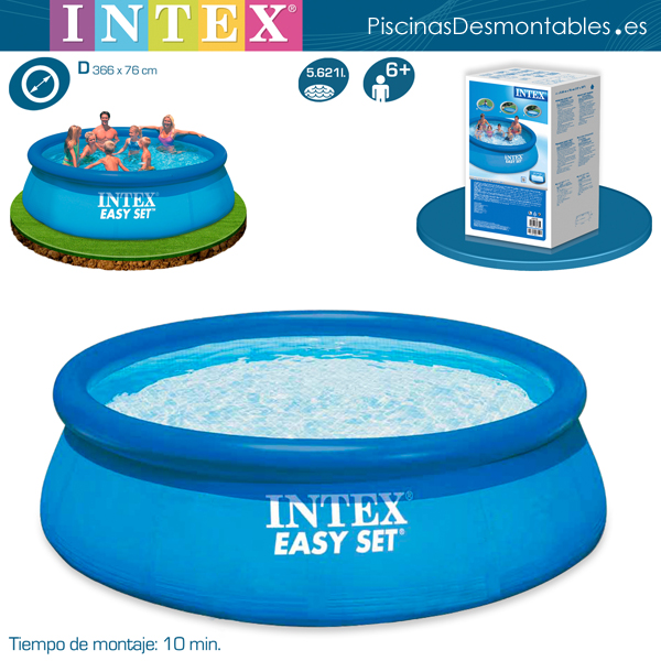 Piscinas intex diversi n y buen precio for Piscinas rigidas baratas