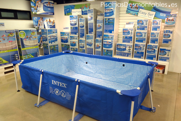 Venta de albercas intex airea condicionado for Piscinas rectangulares intex