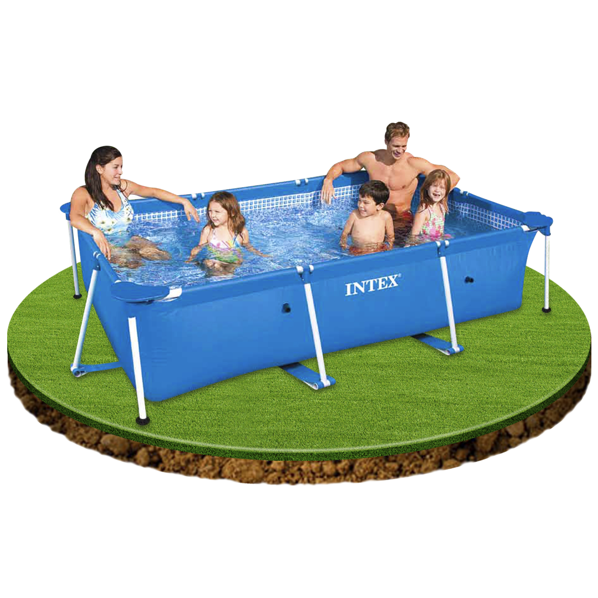 Piscina intex small rectangular frame piscinas desmontables for Piscinas para ninos pequenos