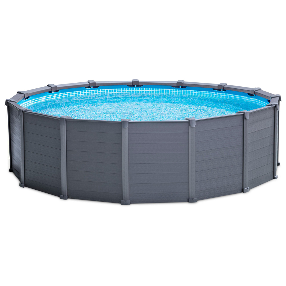 Piscina intex graphite panel 478x124 28382np piscinas for Piscinas desmontables intex
