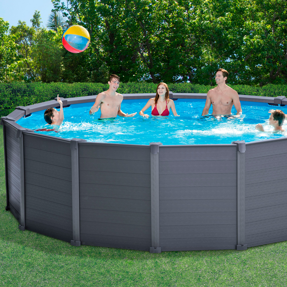 Piscina intex graphite panel 478x124 28382np piscinas for Piscine intex graphite