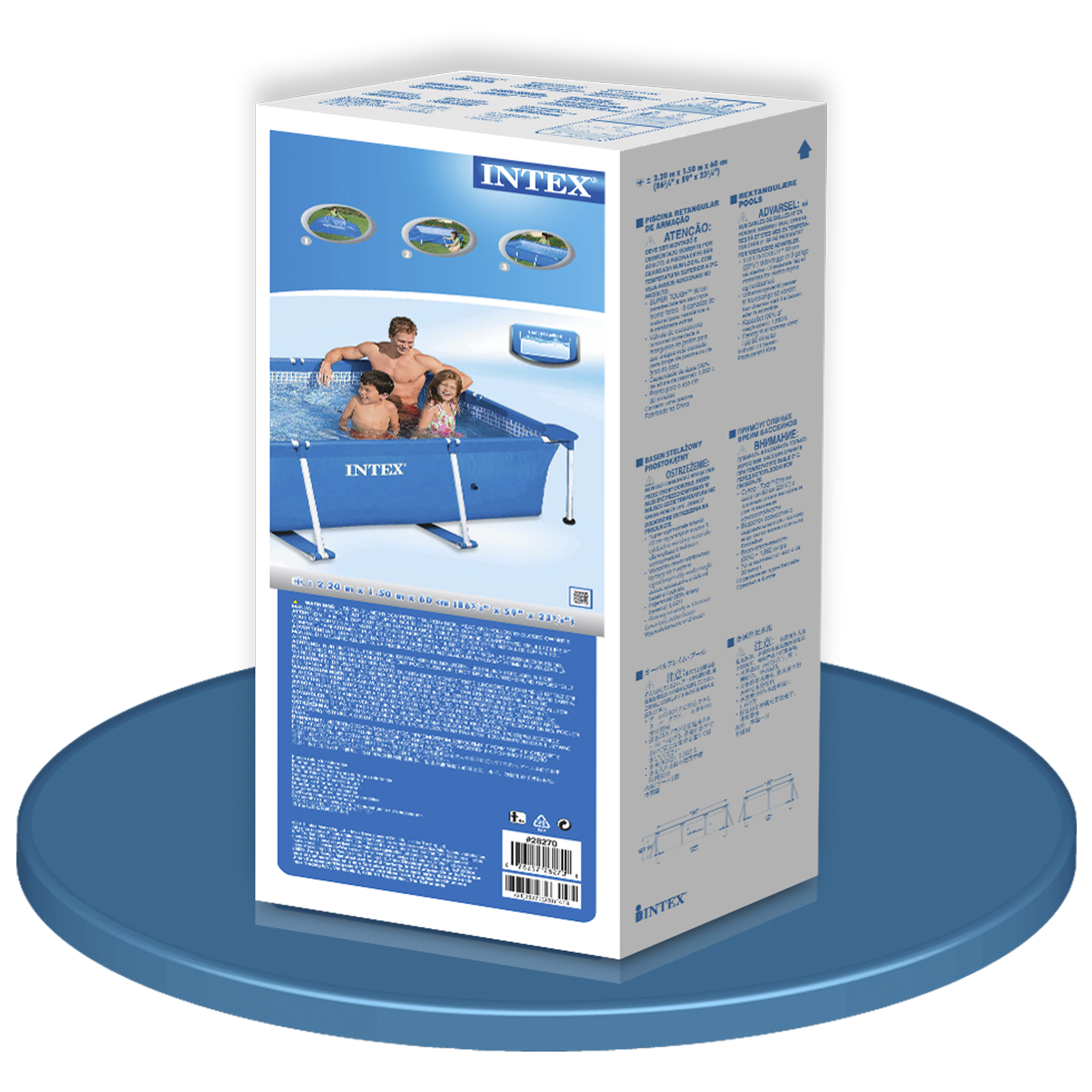 Piscina intex small rectangular frame piscinas desmontables for Piscinas intex precios
