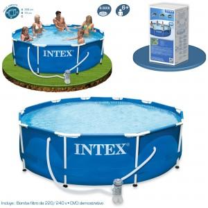 Outlet piscinas tubulares piscinas desmontables for Filtro de piscina intex