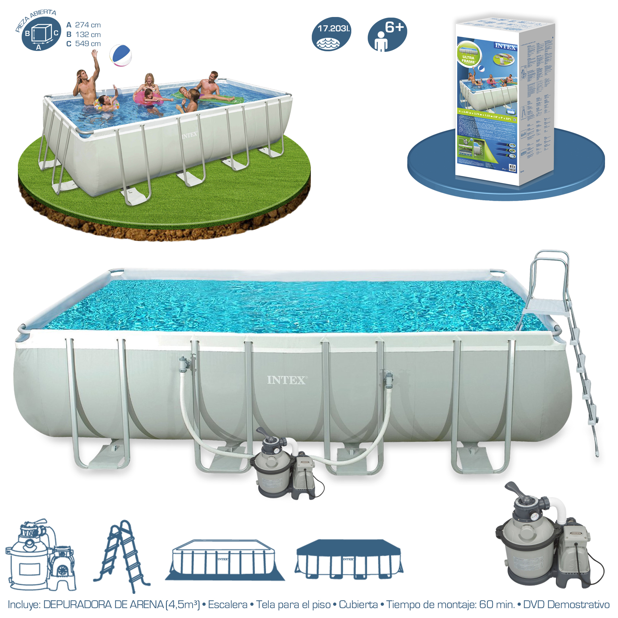 Piscina Intex Ultra Frame 549x274x132 28352 | Piscinas Desmontables