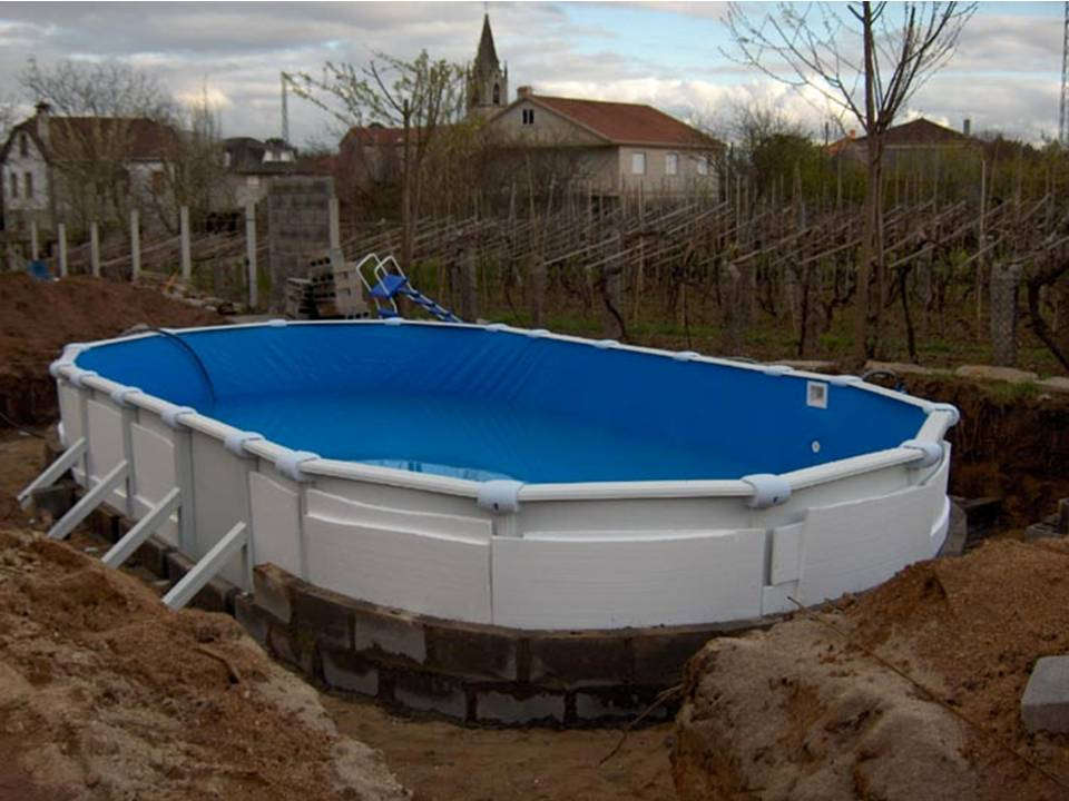 Como enterrar una piscina desmontable for Materiales para construir una piscina
