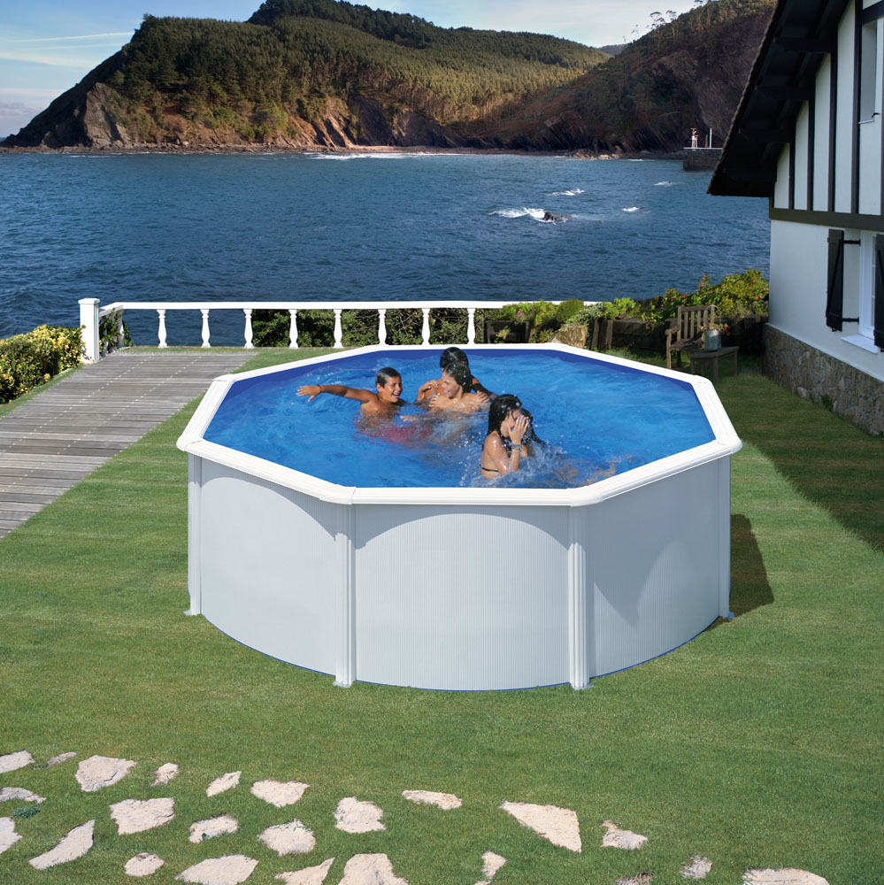 Piscina gre 350x120 serie fidji kit350eco piscinas for Piscinas rectangulares desmontables con depuradora