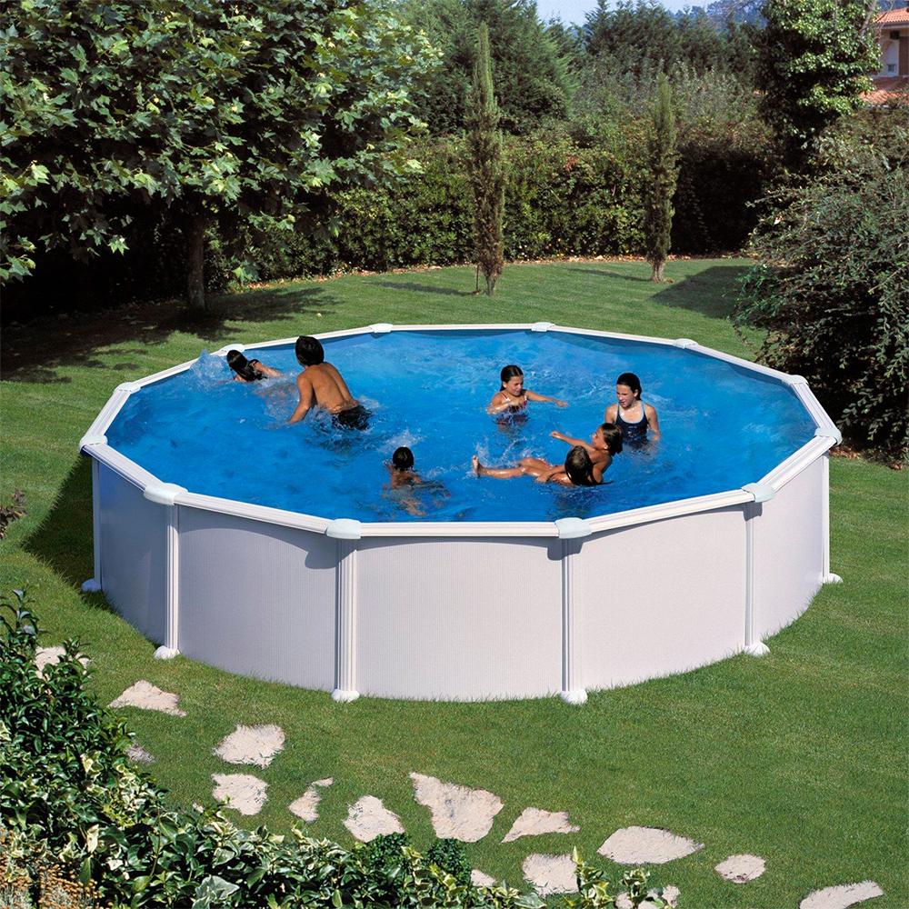Piscina gre 460x132 serie atlantis kitpr458 piscinas for Piscina 5 metros diametro