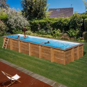 Piscina gre 240x120 serie pacific kit240w piscinas for Piscina fuori terra 400x200x100