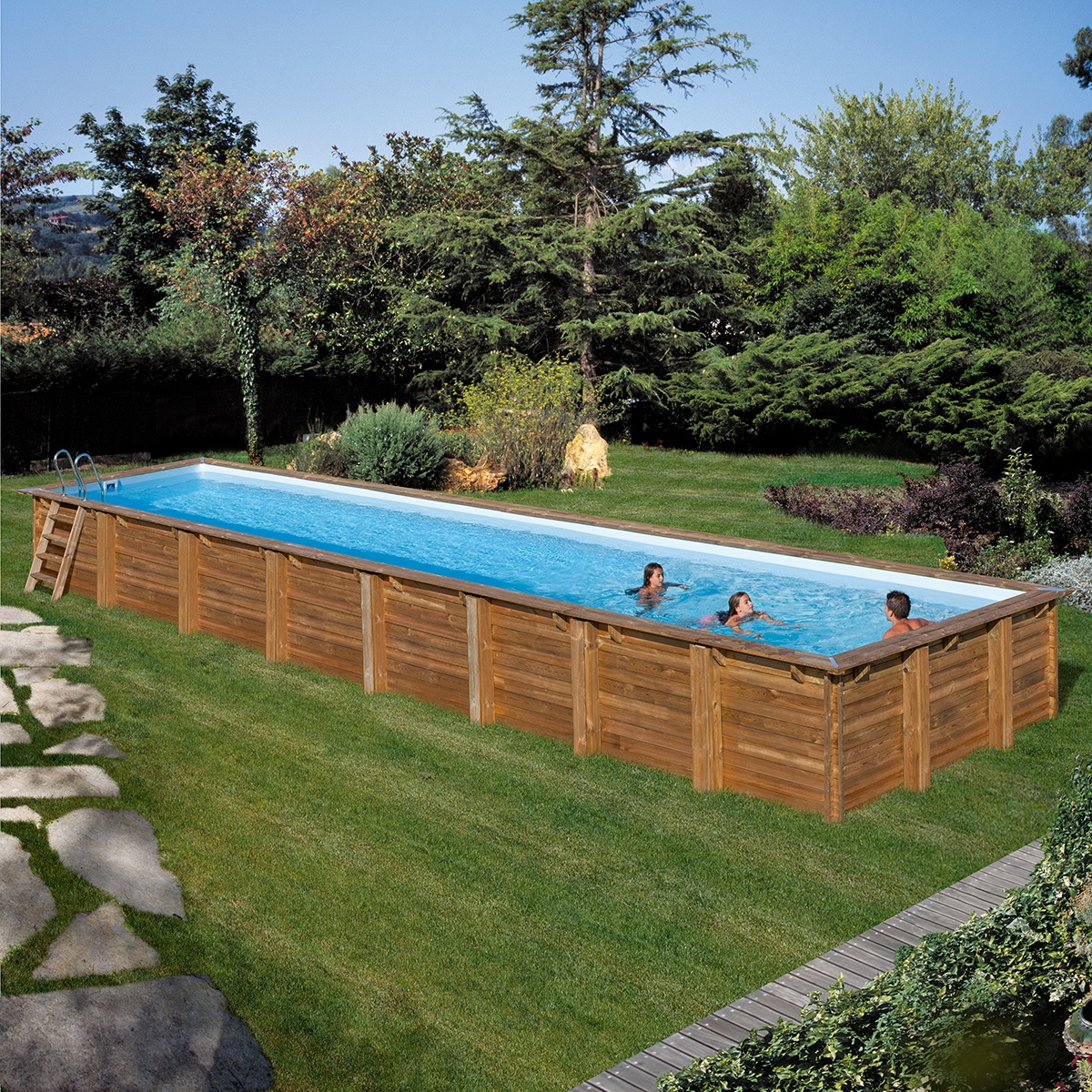 Piscina gre sunbay cardamon 1200x400x146 piscinas desmontables - Piscine fuori terra rettangolari ...