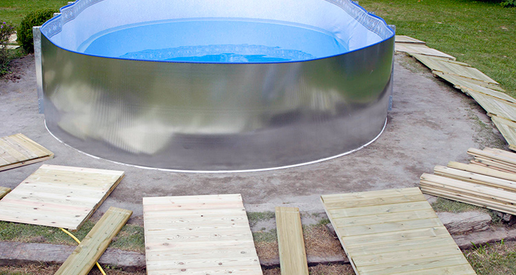 Consejos para instalar una piscina desmontable for Precio mantenimiento piscina