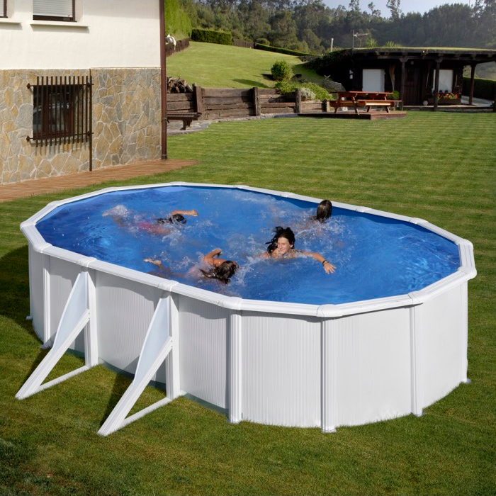 Piscina gre 500x300x120 serie fidji kit500eco piscinas for Piscinas rectangulares desmontables con depuradora
