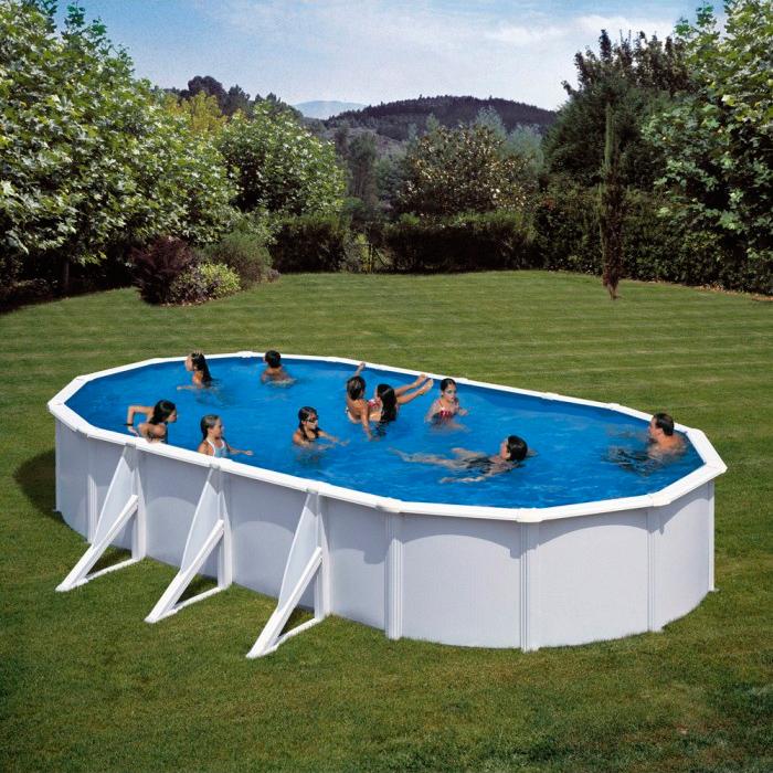 Piscina gre 610x375x120 serie fidji kit610eco piscinas for Piscina leroy merlin