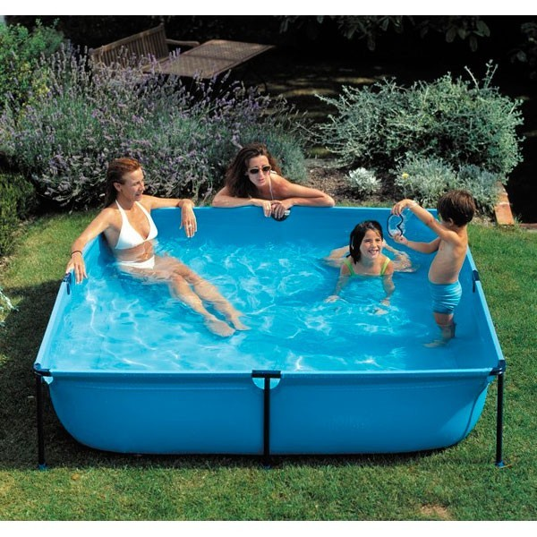 Piscina gre 190x190x45 serie junior wet200 cuadrada for Piscina hinchable cuadrada