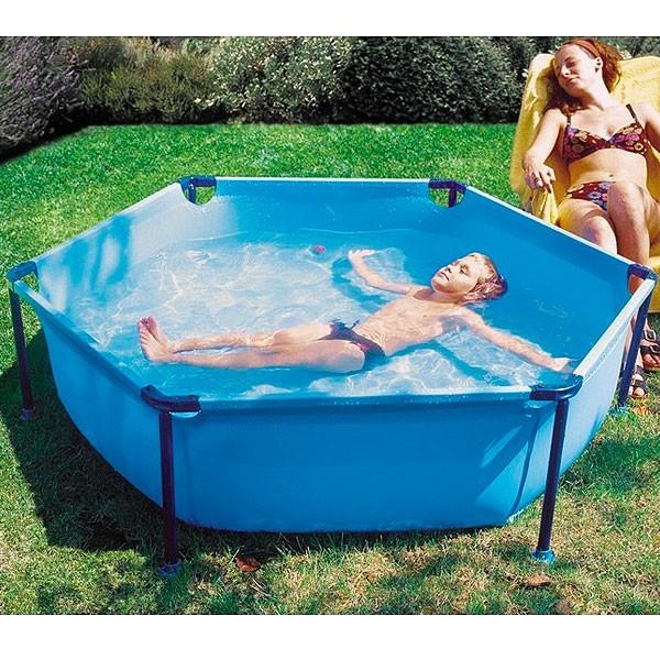 piscina desmontable hexagonal