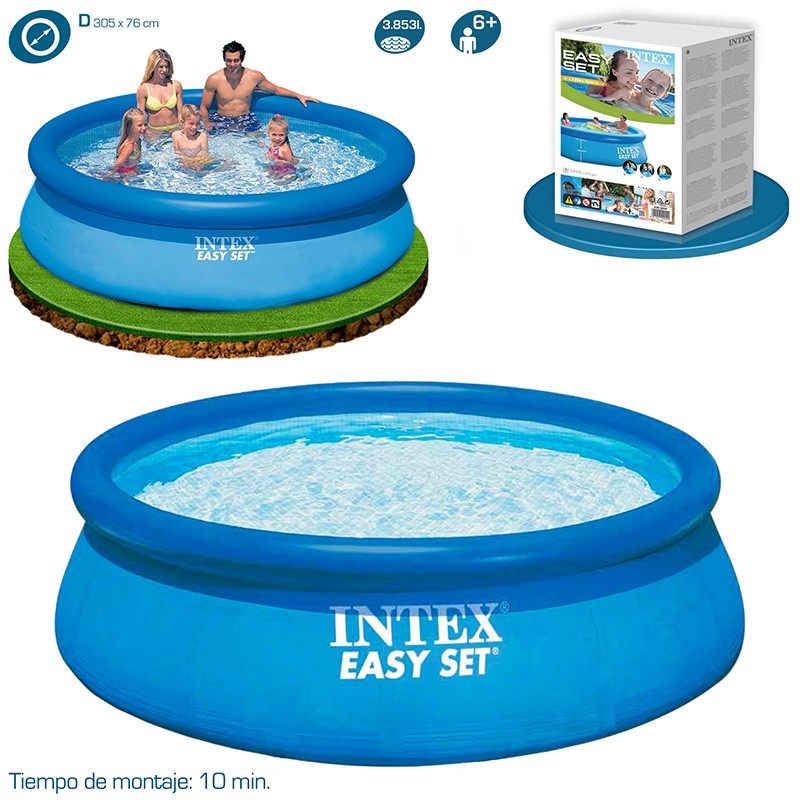 Piscina intex easy set 305x76 28122np piscinas desmontables for Piscinas desmontables intex