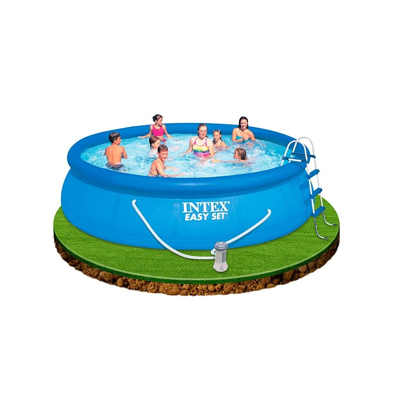 Piscina intex easy set 457x122 28168 piscinas desmontables for Piscina 457 x 122