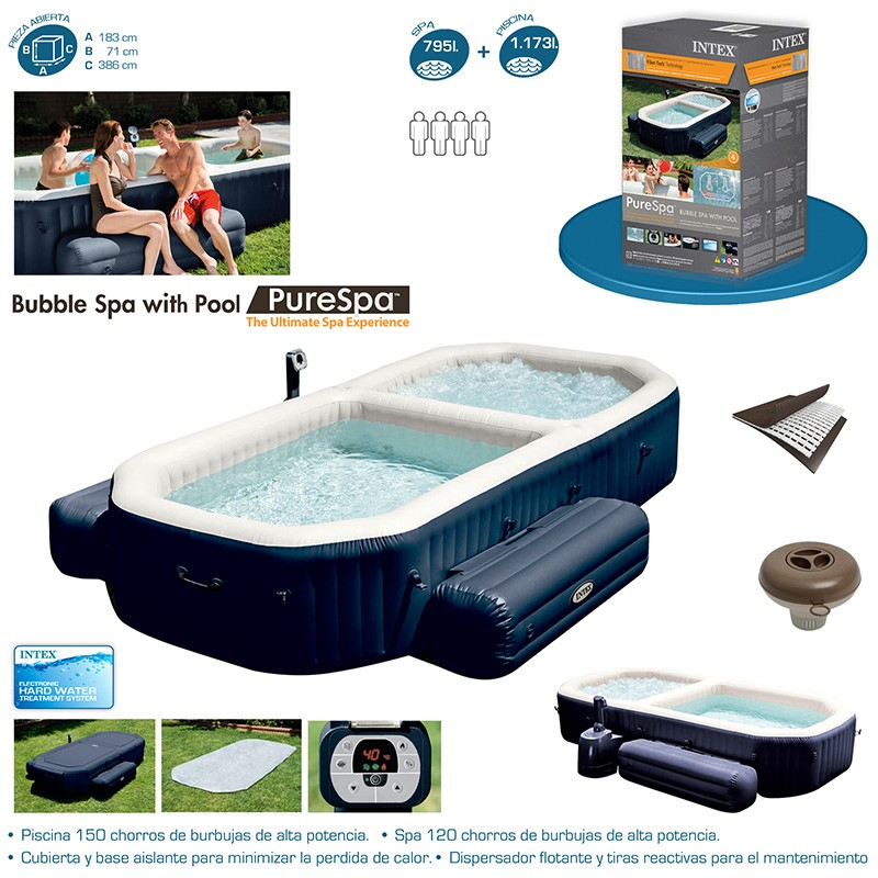 Spa intex purespa con piscina para 8 personas 28492 for Intex piscine catalogo