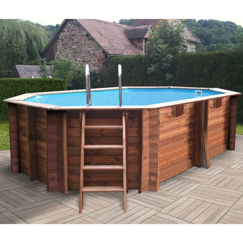 Piscina gre sunbay grenade 436x336x119 piscinas desmontables for Piscina madera carrefour
